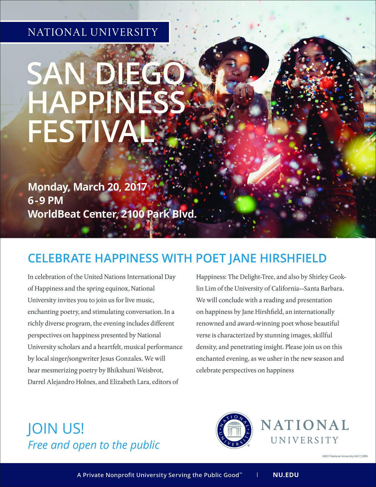 ffdd95e808118 National University Presents  San Diego Happiness Festival ...